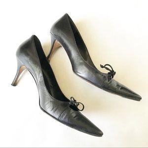 Gucci Black Leather Kitten Heel Pumps *Read*